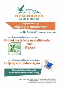 2018-11-02 poster presentatie en inloopmiddag seniorweb in leek