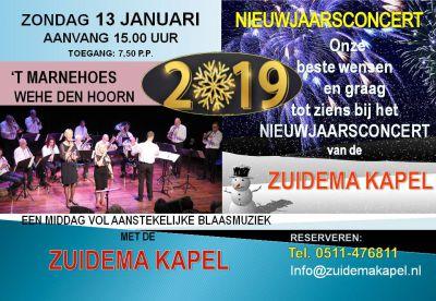 Nieuwjaarsconcert Zuidema Kapel 2019
