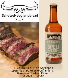 Biefstuk bier logo tekst kl