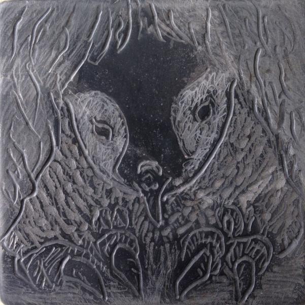 Keizerspinguin, tekening in steen-2