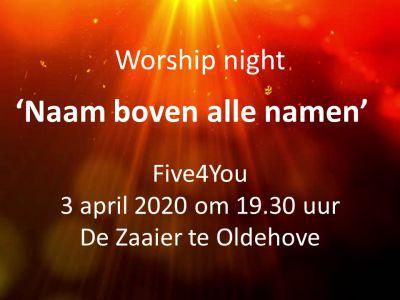 Ppt flyer worship night 2020