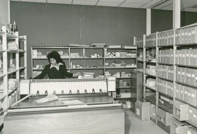 Bouwarchief gemeentehuis zuidhorn, 1973. foto m.a. douma, groninger archieven